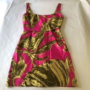 EUC Milly size 10 hot pink pan leaf dress size 10